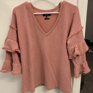 Miss Me Ruffle Sleeve Sweater